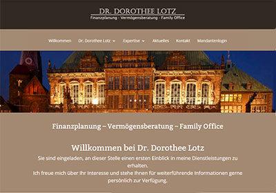 Dr. Dorothee Lotz | Finanzplanung