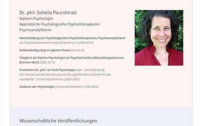 Soheila Pourshirazi – Psychotherapie