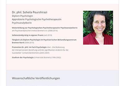 Soheila Pourshirazi | Psychotherapie